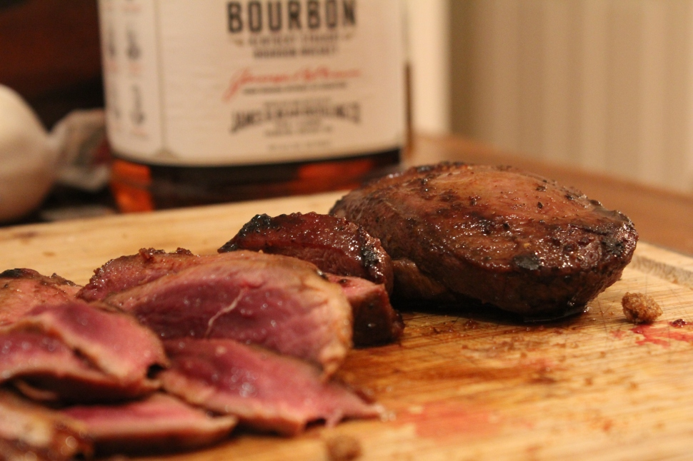 Wild Duck with Apple Butter Syrup.